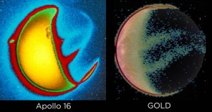 Apollo 16 UV image comparison with GOLD UV image